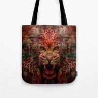 jaguar Tote Bags featuring Jaguar by Zandonai