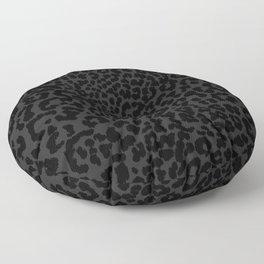 Goth Black Leopard Floor Pillow