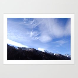 sunny breezy breezy alps Art Print