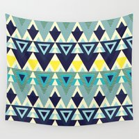 chic Wall Tapestries featuring Geometric chic by Akwaflorell