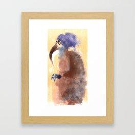 beak lady  Framed Art Print