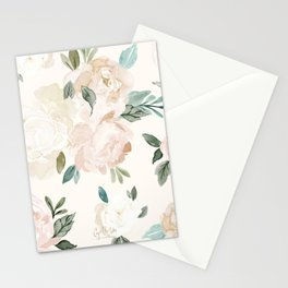 Vintage Blush Floral - softest pastel Stationery Cards