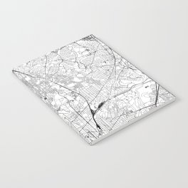 Washington D.C. White Map Notebook