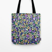 flora Tote Bags featuring Flora by BellagioVista