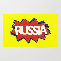 russia Area & Throw Rugs featuring Russia by mailboxdisco