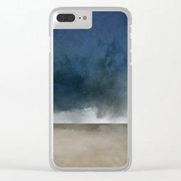 Beach landing Clear iPhone Case