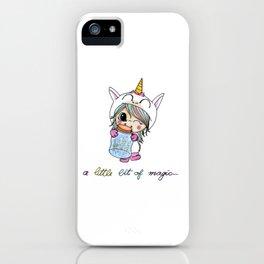 A Little Bit Of Magic Unicorn iPhone Case