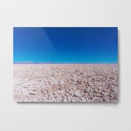San Pedro de Atacama Salt Field, Chile Metal Print