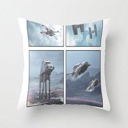 Battlefront Four Square Throw Pillow