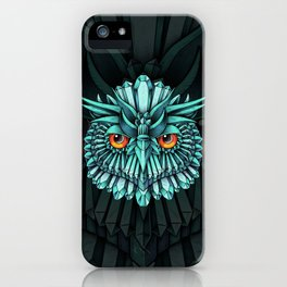 Crystal Owl Blue iPhone Case