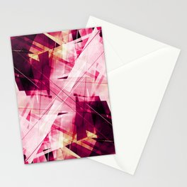 Ruckus in Red - Geometric Abstract Art Stationery Cards