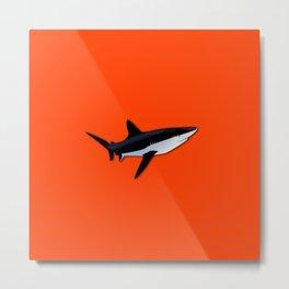 Bright Fluorescent Shark Attack Orange Neon Metal Print