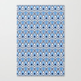 Blue Nouveau Canvas Print