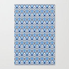 Blue Nouveau Canvas Print