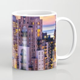 Yaletown Voyeuristic 0361 Vancouver Cityscape View English Bay British Columbia Canada Sunset Travel Coffee Mug