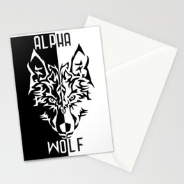 Alpha Wolf Stationery Cards