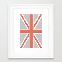 union jack Framed Art Prints featuring Union Jack by Lolita Stein