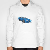 subaru Hoodies featuring Subaru Impreza by Claeys Jelle Automotive Artwork