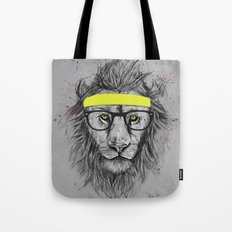 hipster lion Tote Bag