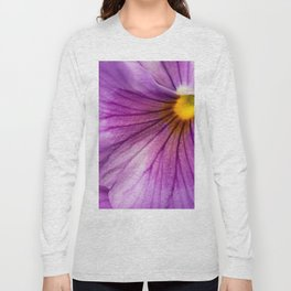 Purple Pansy Flower Close-up #decor #society6 #buyart Long Sleeve T-shirt