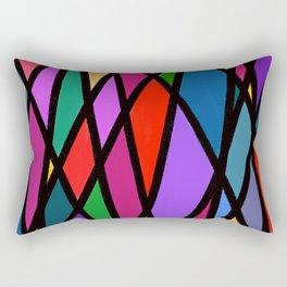 Purple Diagonals Rectangular Pillow