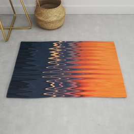 Sunset in Waves Rug