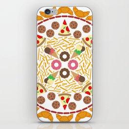 Food circle iPhone Skin