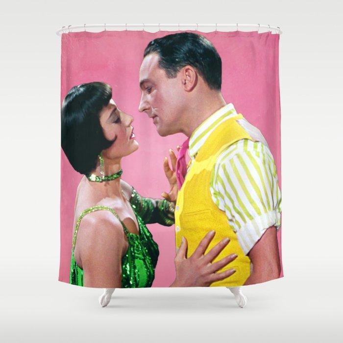 Gene Kelly & Cyd Charisse - Pink - Singin' in the Rain Shower Curtain