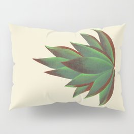 Red and Green Aloe Vera Plant Pillow Sham