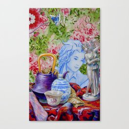 Still Life with Some of Hokusai's things and Venus Canvas Print