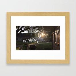 AM Framed Art Print