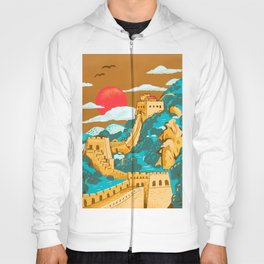 Great Wall of China by Cindy Rose Studio Hoody