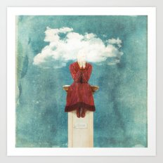 LOVE - Head in the Clouds Art Print