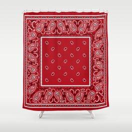 Classic Red Bandana Shower Curtain