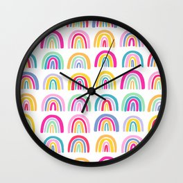 Colorful Rainbows Wall Clock