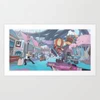inside gaming Art Prints featuring Welcome To PC Gaming by the10s