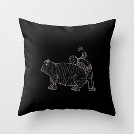 The Known Practice of using Domesticated Bears as cushions while drinking.  Throw Pillow