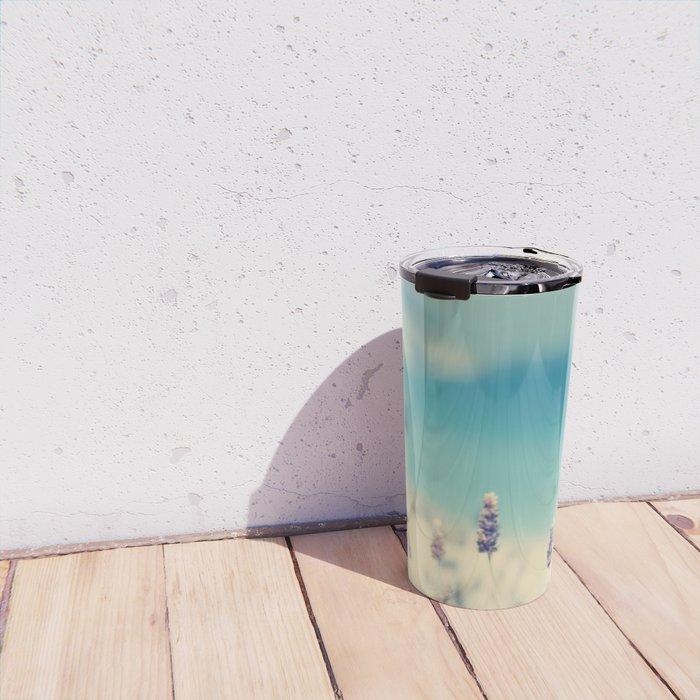 beach - lavender blues Travel Mug