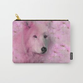 PINK WOLF FLOWER SPARKLE Carry-All Pouch