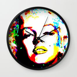 Pop Art of Actress M. Monroe - © Doc Braham; All Rights Reserved Wall Clock