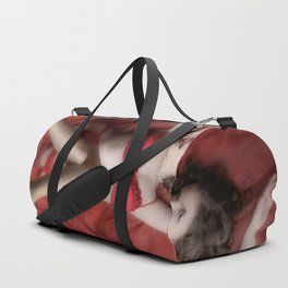 Red on Red Duffle Bag