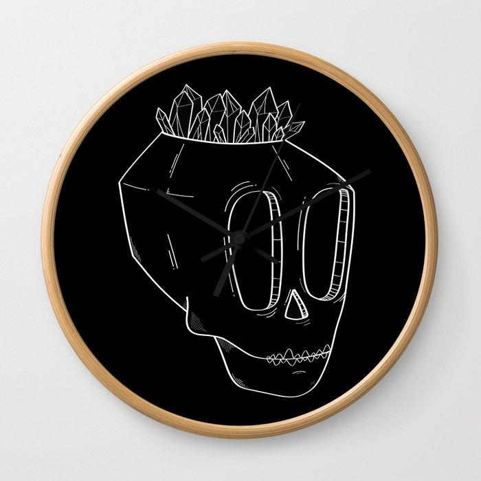 Diamond Skull Wall Clock