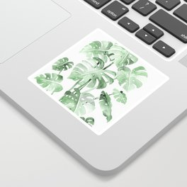 Delicate Monstera Green #society6 Sticker