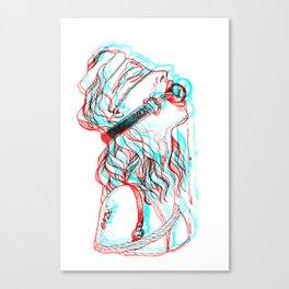 Glitch gag Canvas Print