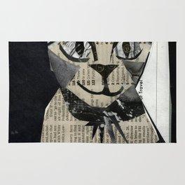 Newspaper Cat Rug