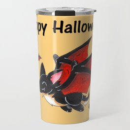 Corgipire Bat (With Text) Travel Mug