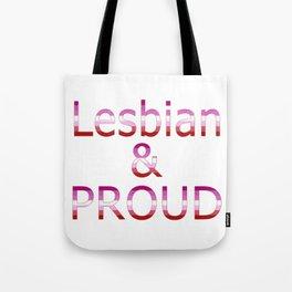 Lesbian and Proud (white bg) Tote Bag