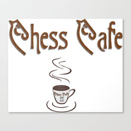 Chess Cafe Canvas Print