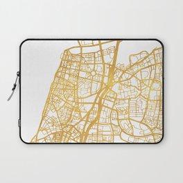 TEL AVIV ISRAEL CITY STREET MAP ART Laptop Sleeve