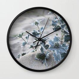 beach thistle Wall Clock